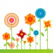 Vector background with flowers — Stock Photo
