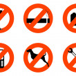 Not allowed icons — Stock Photo
