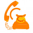 Telephone icon — Stock fotografie