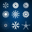 Different snowflakes - Stok fotoğraf