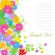 Floral vector background — Stock Photo