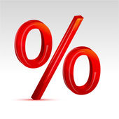 Percent sign — Stock Photo