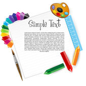 Colorful artistic card — Stock Photo