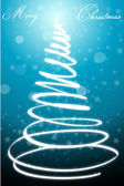 Abstract merry christmas card with xmas tree — Stock Photo