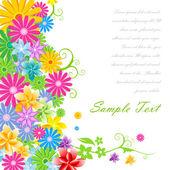 Fundo floral vector — Fotografia Stock