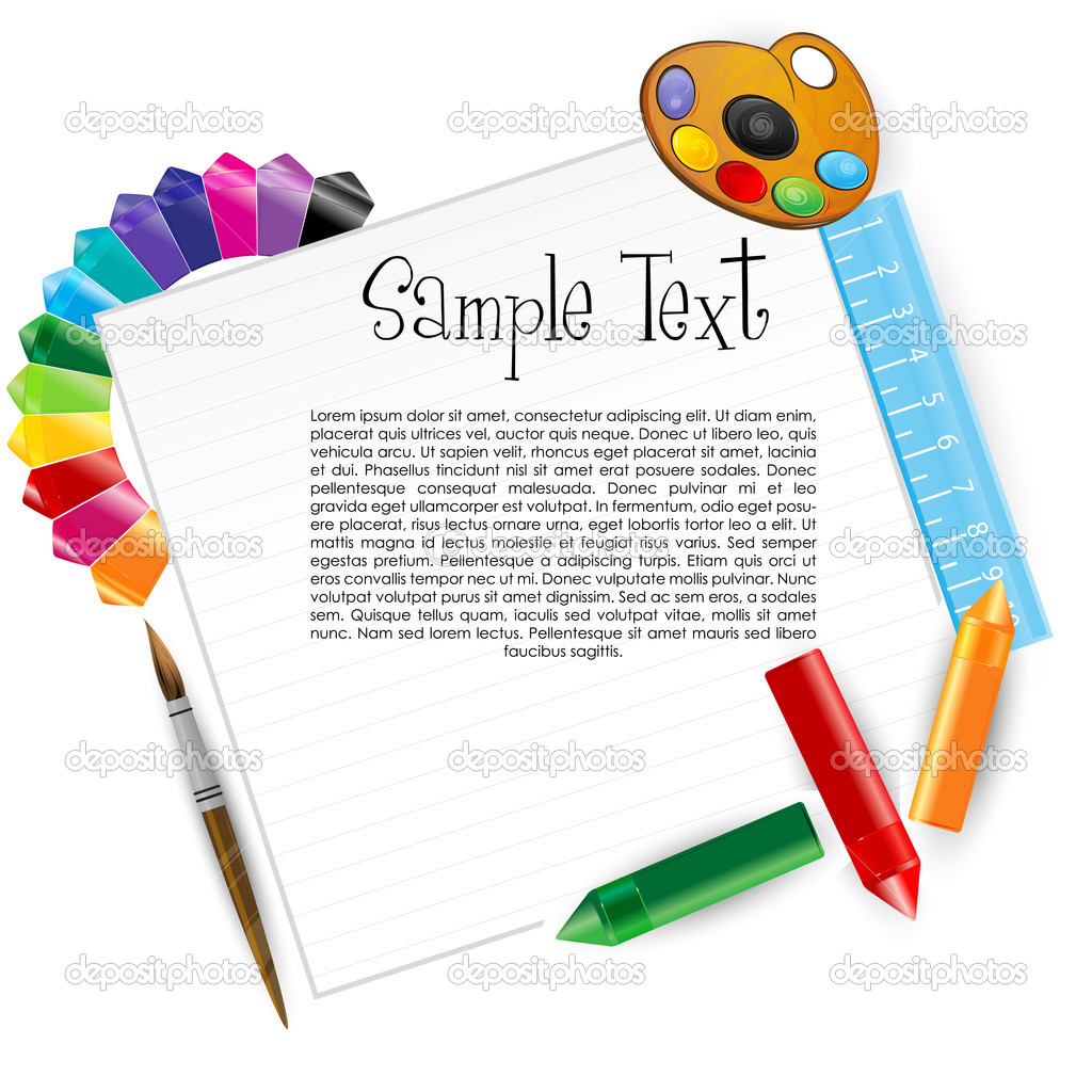 Illustration of colorful artistic card on white background — Stock Photo #4419633