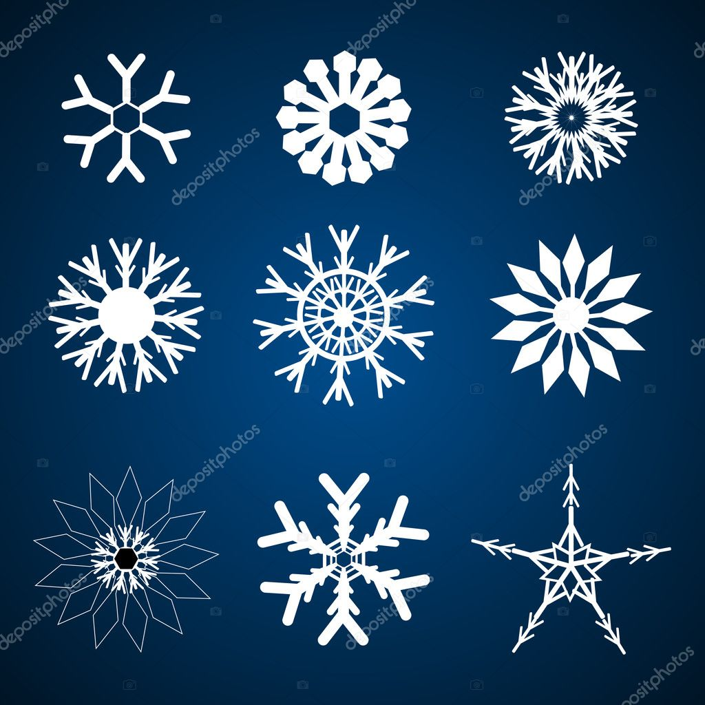 Illustration of different snowflakes — Stock Photo #4419913