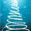 Stock Photo: Abstract merry christmas card with xmas tree