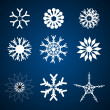 Stock Photo: Different snowflakes