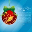 Abstract floral merry christmas card — Stock Photo