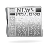 Special report news paper — Stock Photo