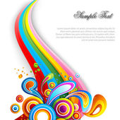 Abstract vector background with colorful swirls — Fotografia Stock