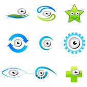 Different shapes of eyes — Stock Photo