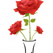 Royalty-Free Stock Vector Image: Rose in pot