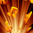 Abstract musical background — Vector de stock