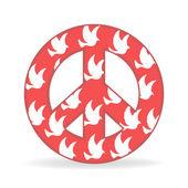 Signo de la paz con ave — Vector de stock
