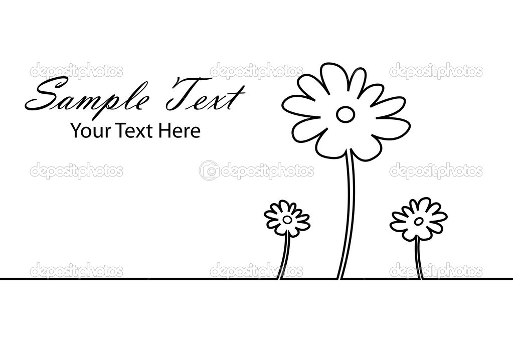 Illustration of sketchy flower background on isolated background — Stock Vector #4443305