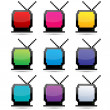 colorful tv — Stock Photo