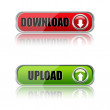 Download buttons - Stock Photo