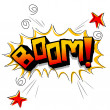 Boom with stars - Stock Photo