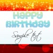 Abstract birthday card — Stock Photo
