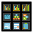 Different business graphs — Stock Photo