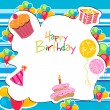 Colorful birthday card — Stock Photo #4487352