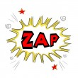 Zap text — Stock Photo