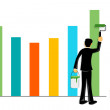 Businessman painting graph — Stock Photo