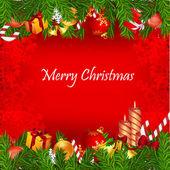 Colorful christmas card — Stock Photo