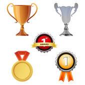 ícones de recompensa — Foto Stock