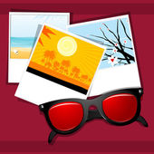 Summer eye wear with natural pictures — Stock Photo