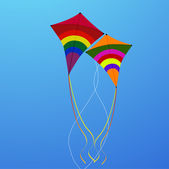 Flying kites — Foto Stock