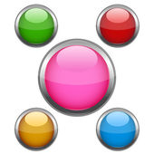 Multi colored buttons — Stock Photo