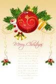 Floral merry christmas card — Stock Photo