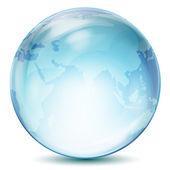 Transparent globe — Stock Photo