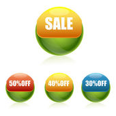Sale and discount buttons — Stock Photo
