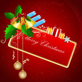 Abstract merry christmas card — Stock Photo