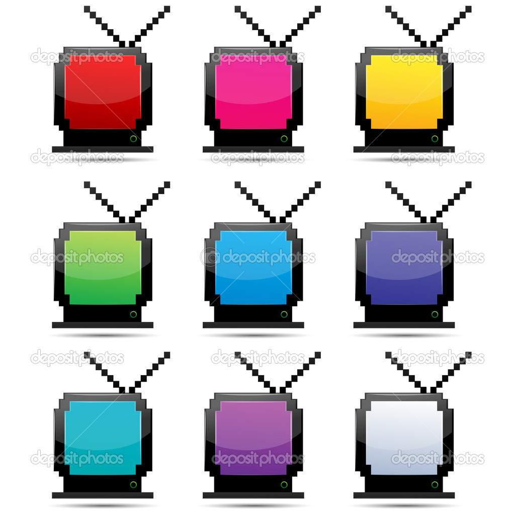 Illustration of colorful tv on white background — Stock Photo #4485715