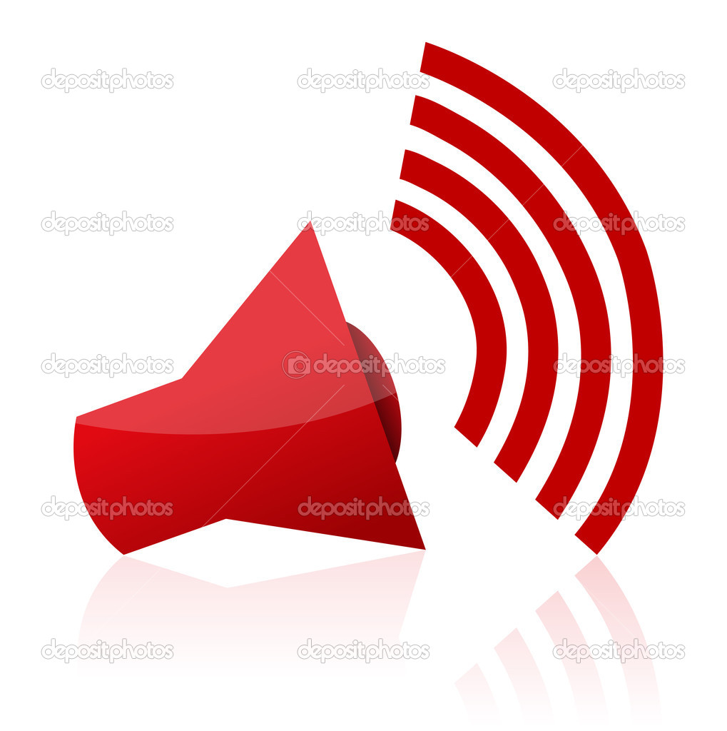 Illustration of sound icon on isolated background — Stock Photo #4486160