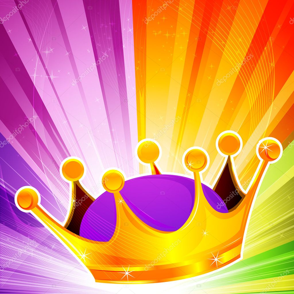 Illustration of abstract crown  on colorful background — Stock Photo #4486736