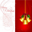 Cheerful merry christmas card — Foto de Stock