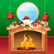 Cheerful merry christmas card — Stock Photo #4522561