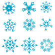 Shapes of snowflakes — Stock Photo