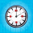 Stock Photo: Clock with texture background
