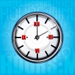 Clock with texture background — Stock Photo