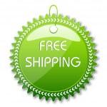 Free shipping tag — Stock Photo