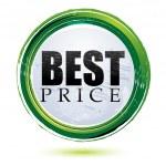Best price tag — Stock Photo