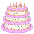 Stock Photo: Decorative birthday cake