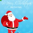 Merry christmas card with santa — Foto de Stock